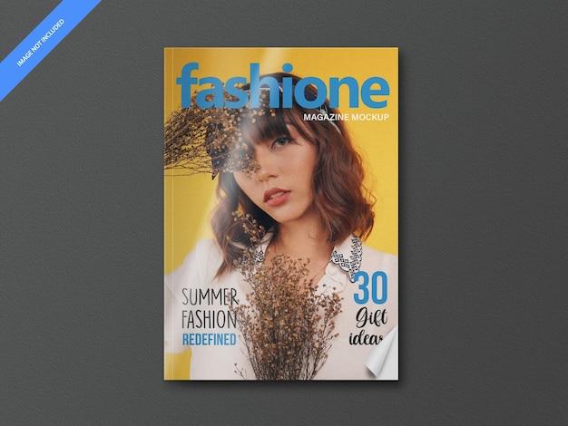 Mockup di pagina di copertina di una rivista editoriale