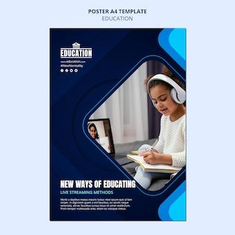 Modello di poster di educazione