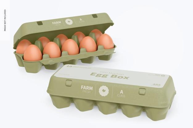 Mockup di scatole di uova