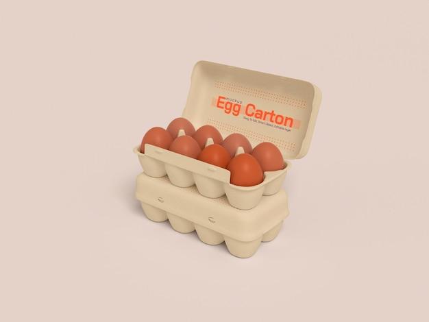 Mockup di scatole di cartone per uova