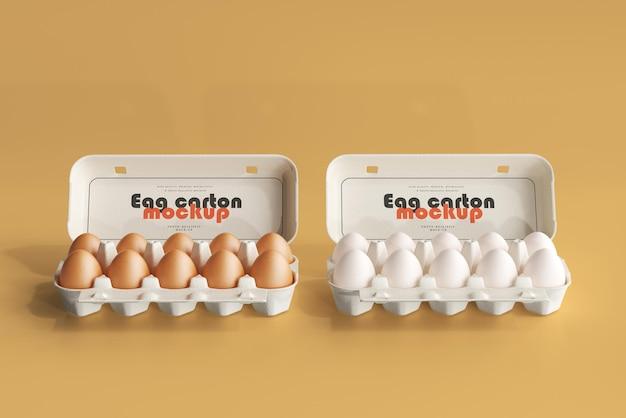 Mockup di cartone di uova