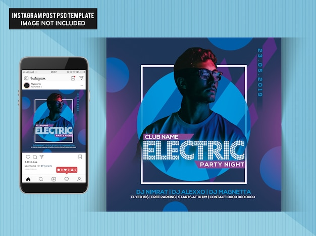 Electric party night flyer