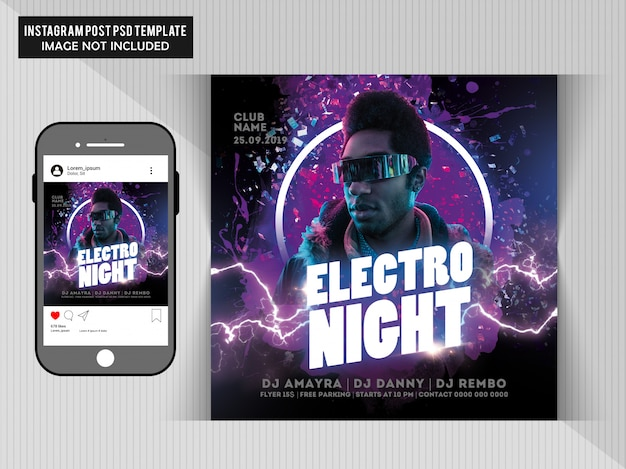 Volantino electro night party