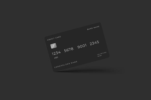 Carta elettronica per mockup di carte di credito aziendali bancarie