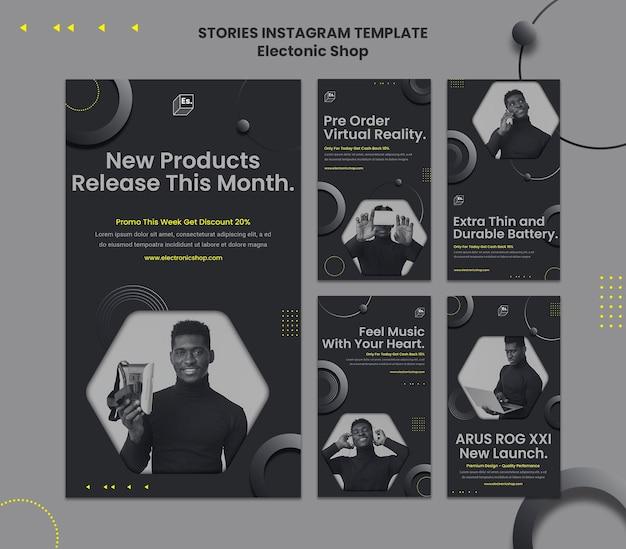 Modello di storie instagram negozio elettronico