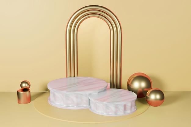 Mockup di sfondo di visualizzazione di fase di rendering 3d eleganza