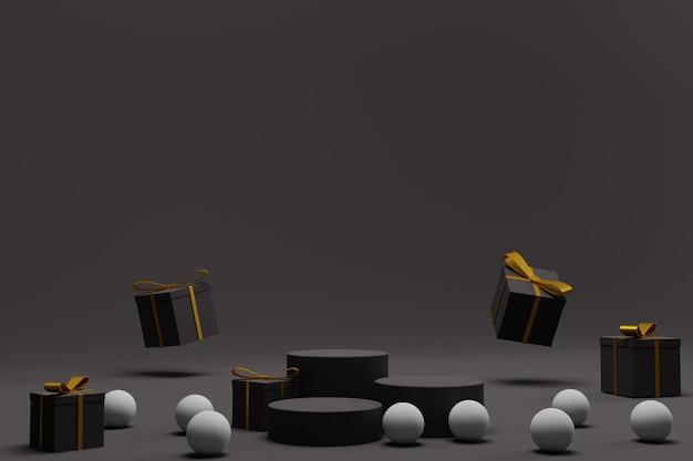 Elegante podio 3d per esposizione natalizia