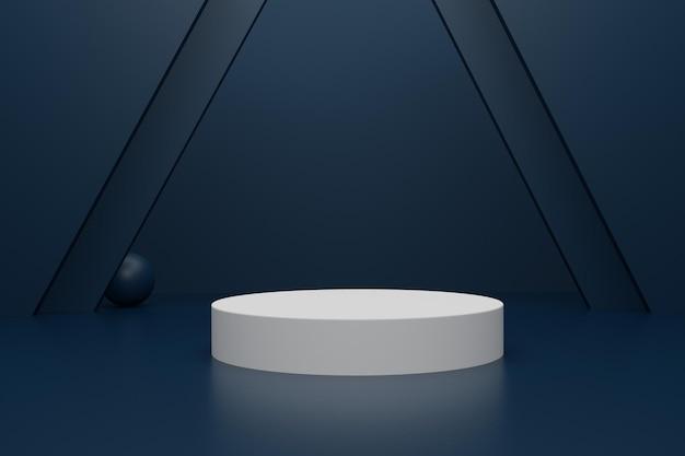 Elegante podio di rendering 3d per la pubblicità del prodotto