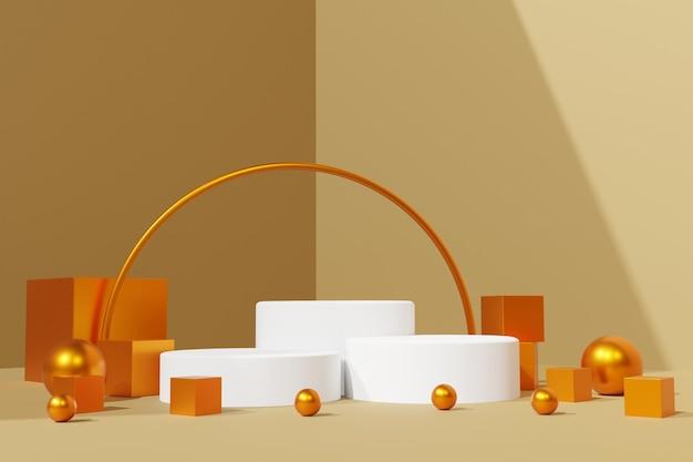 Elegante 3d rende lo sfondo della scena del podio