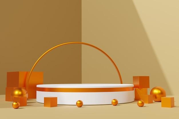 Elegante 3d rende lo sfondo del palco del podio