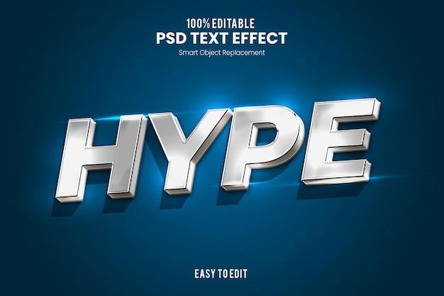 Elegante modello di progettazione effetto testo 3d
