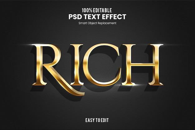 Elegante modello di progettazione effetto testo 3d Psd Premium