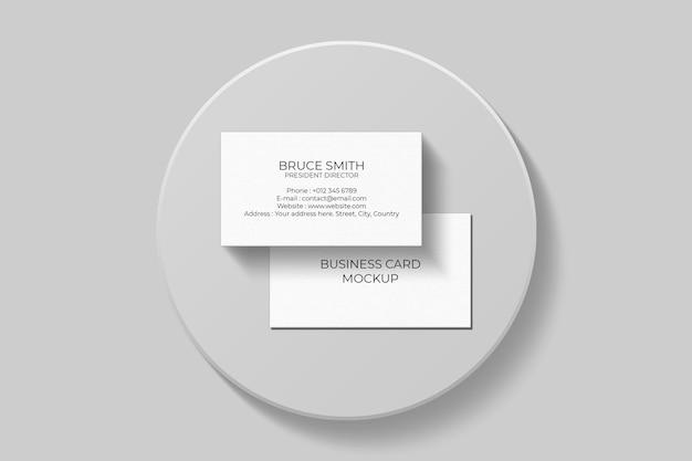 Design elegante mockup biglietto da visita