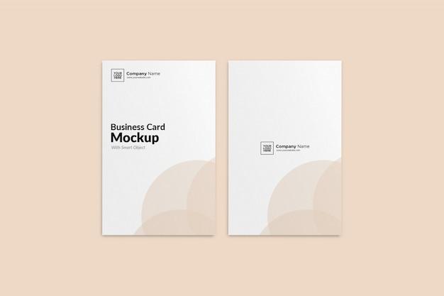 Mockup elegante biglietto da visita