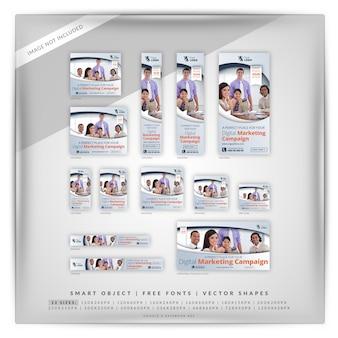 Elegante business marketing google e facebook ads