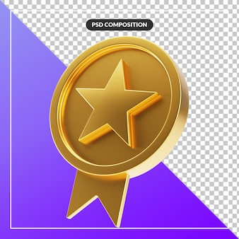 Elegante nastro distintivo stella d'oro cerchio