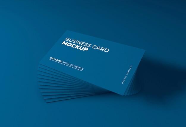 Elegante mockup di biglietto da visita blu scuro