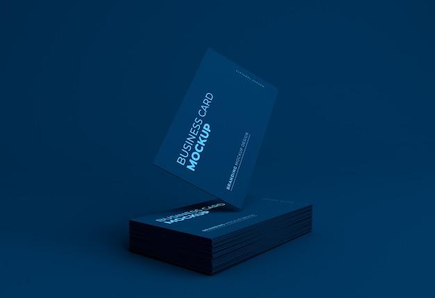 Elegante mockup di biglietto da visita scuro