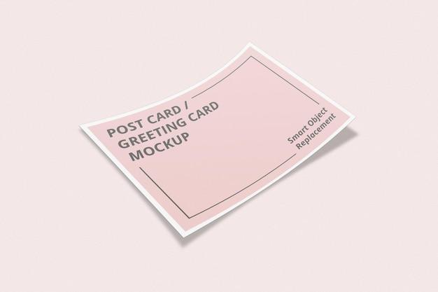 Elegante design di mockup di invito o cartolina