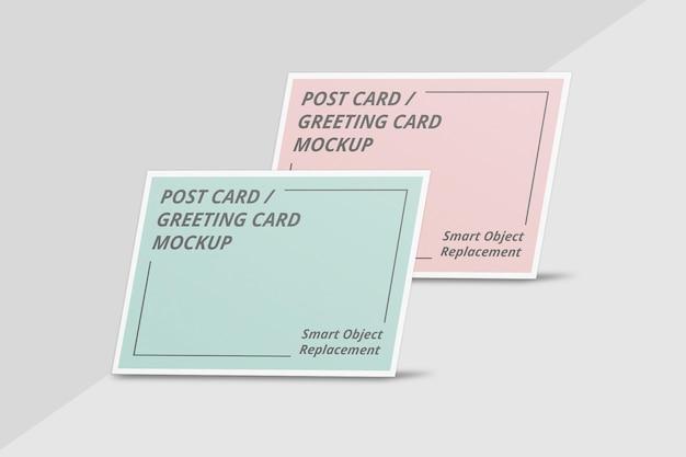 Design elegante di mockup di invito o cartolina