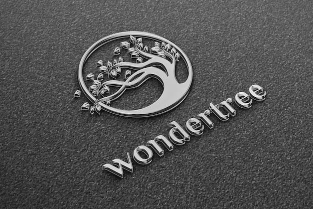 Elegante logo in ferro mockup