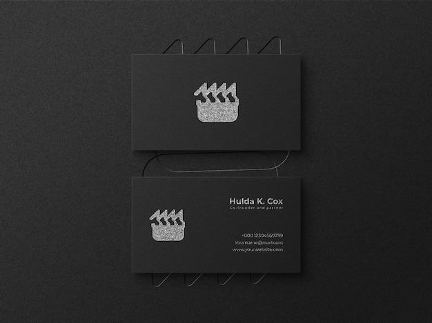 Modello di biglietto da visita con logo elegante con sfondo scuro