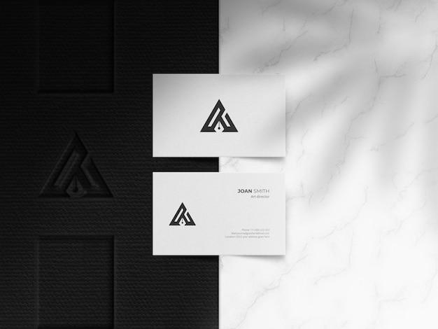Mockup di biglietti da visita elegante e minimalista