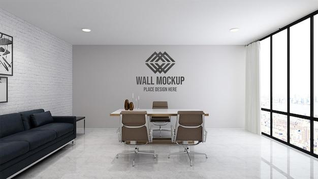 Elegante mockup di parete 3d per ufficio