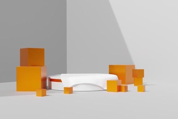 Elegante prodotto stand 3d scena podio sfondo