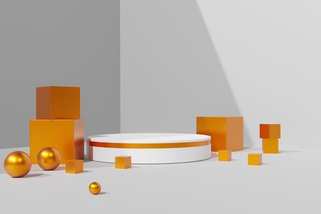 Elegante prodotto stand 3d sfondo del palco del podio
