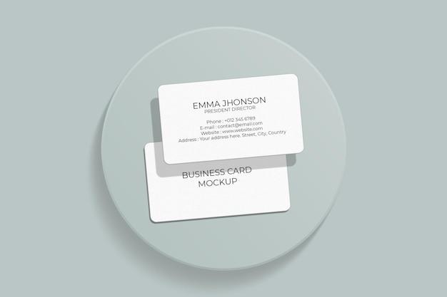 Design elegante mockup biglietto da visita con angolo arrotondato