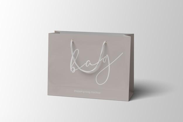 Elegante mockup di shopping bag di carta