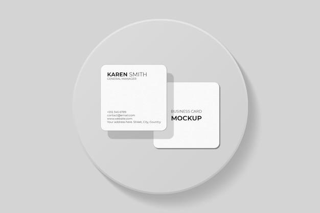Design elegante mockup biglietto da visita quadrato