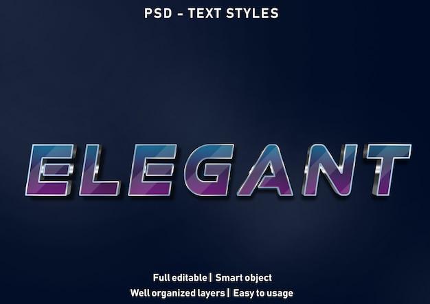 Psd modificabile in stile effetti di testo elegante