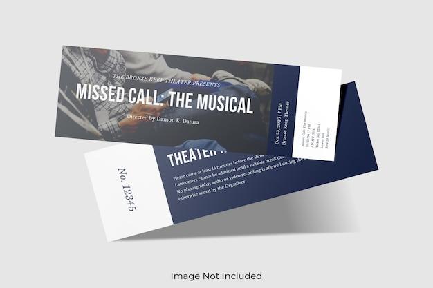 Elegante mockup del biglietto