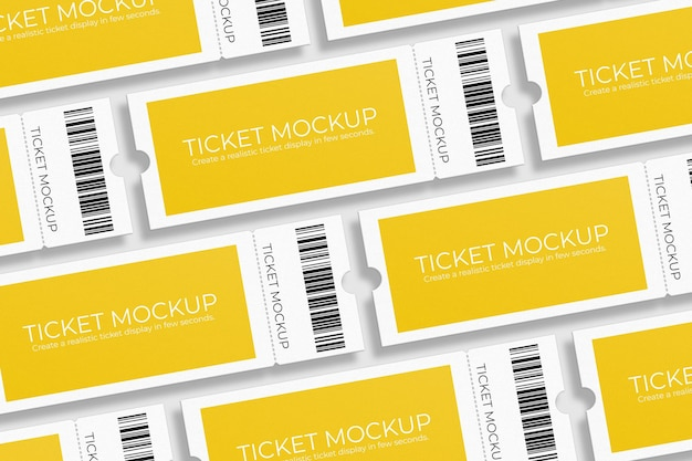 Design elegante per mockup di voucher o biglietti per eventi