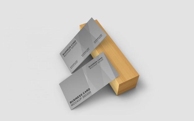 Mockup di biglietti da visita bello e semplice dal design elegante