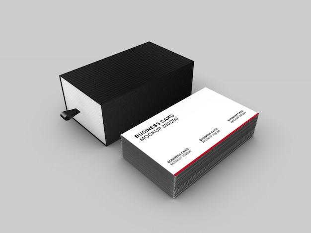Mockup di biglietti da visita classico e semplice dal design elegante