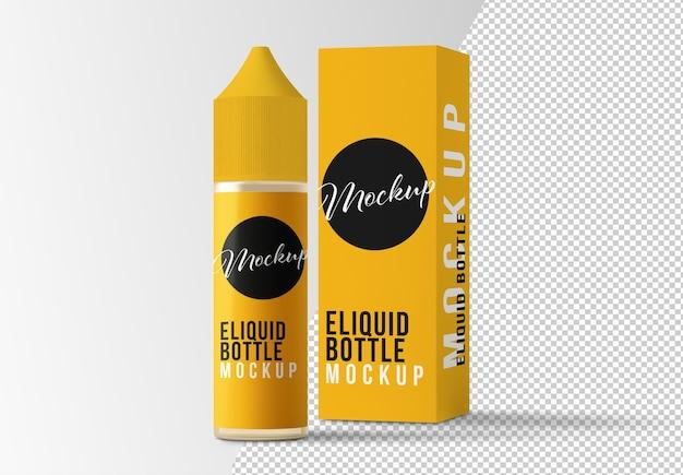 Bottiglia di liquido e mockup di scatola