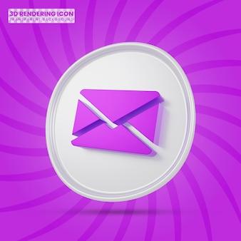 Icona di rendering 3d e-mail