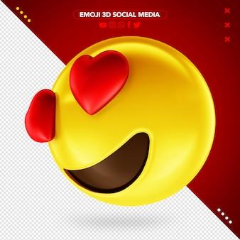 Emoji 3d occhi appassionati per il trucco