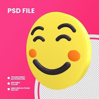 Rendering 3d moneta emoji isolato