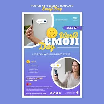 Modello di stampa del giorno emoji