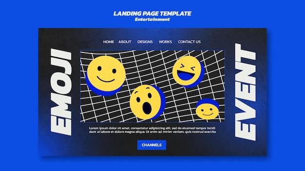 Pagina di destinazione dell'intrattenimento emoji
