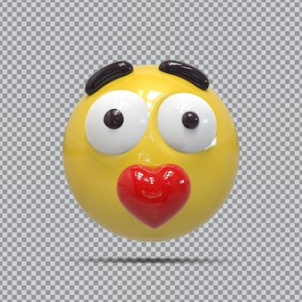 Emoji amore 3d