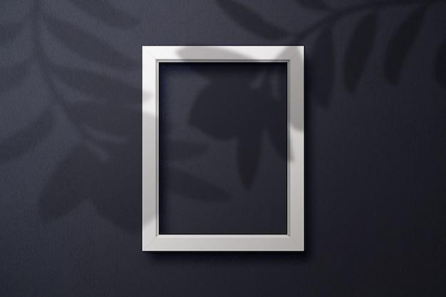 Empty blank frame mockup