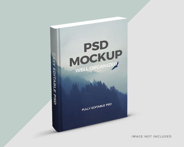 Libro vuoto realistico mockup modello di progettazione
