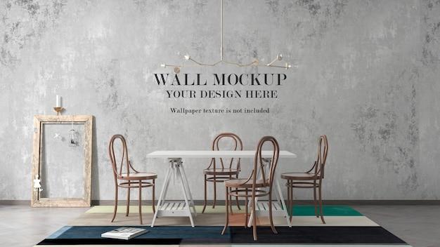 Cornice vuota appoggiata al muro del mockup