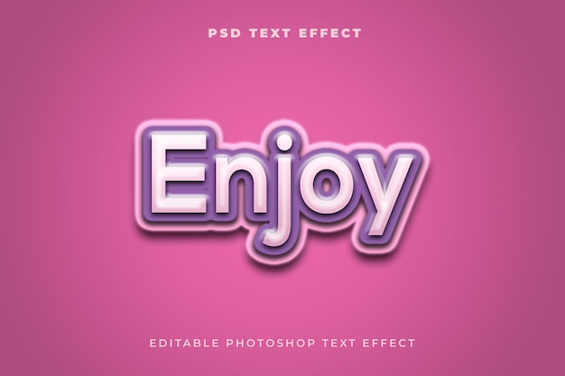 Goditi il modello di effetto testo con il colore viola