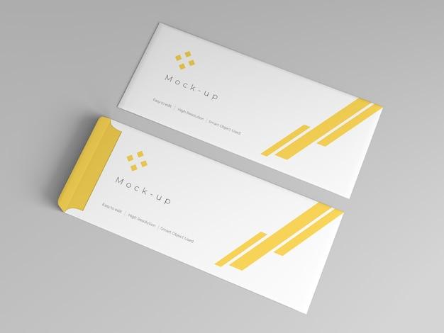 Modello di busta mockup design